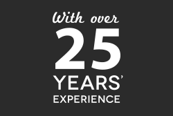 With over 25 years of experience